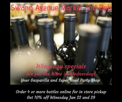 Gasparilla and Super Bowl Winesday Specials
