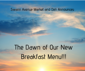 New Breakfast Menu