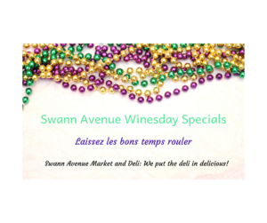Mardi Gras Winesday Graphic