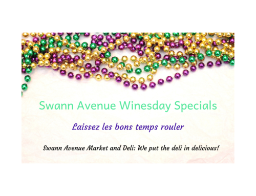 Mardi Gras Winesday Specials